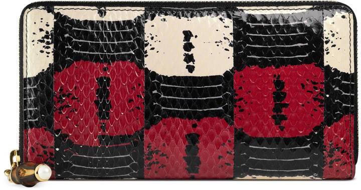 GucciGucci Nymphaea zip around wallet