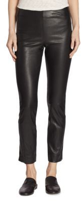 Vince Leather Split-Hem Pants $1,050 thestylecure.com
