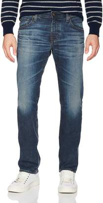 AG Adriano Goldschmied Men's Matchbox Slim Straight Leg0 Denim Pants