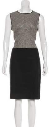 Derek Lam Wool Houndstooth Dress Black Wool Houndstooth Dress
