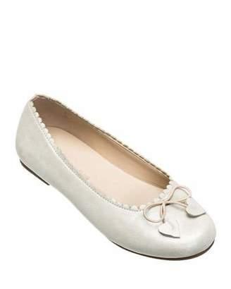 Elephantito Scalloped Leather Ballet Flats, Toddler/Kids