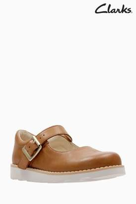 a44125e6dc0 at Next · Next Girls Clarks Tan Leather Crown Honour Mary Jane First Shoe