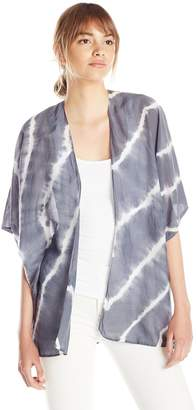 Velvet by Graham & Spencer Women's Tie Dye Silk Cotton Kimono