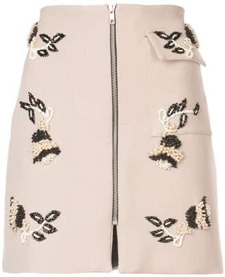 PatBO pearl embellished mini skirt