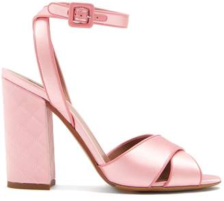Tabitha Simmons Connie quilted crossover strap sandals