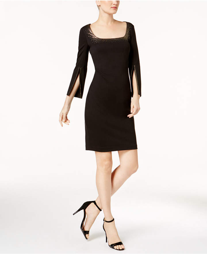 Calvin Klein Metallic-Trim Sheath Dress, Regular & Petite