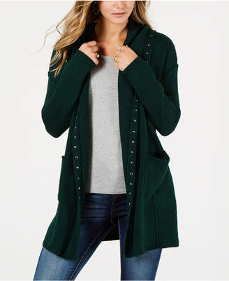 Style&Co. Style & Co Petite Stud-Trim Hooded Cardigan