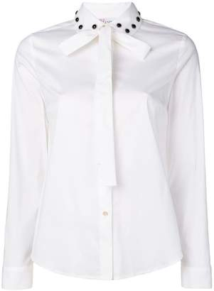 RED Valentino embellished collar shirt
