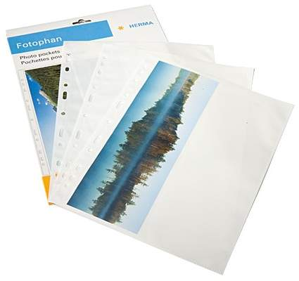Panoramic Herma Photo Pockets 2 Per Side White