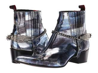 Jeffery West Sylvian Tooled Spur and Chain Chelsea Boot