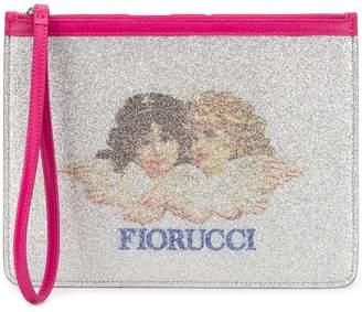 Fiorucci medium glitter pouch