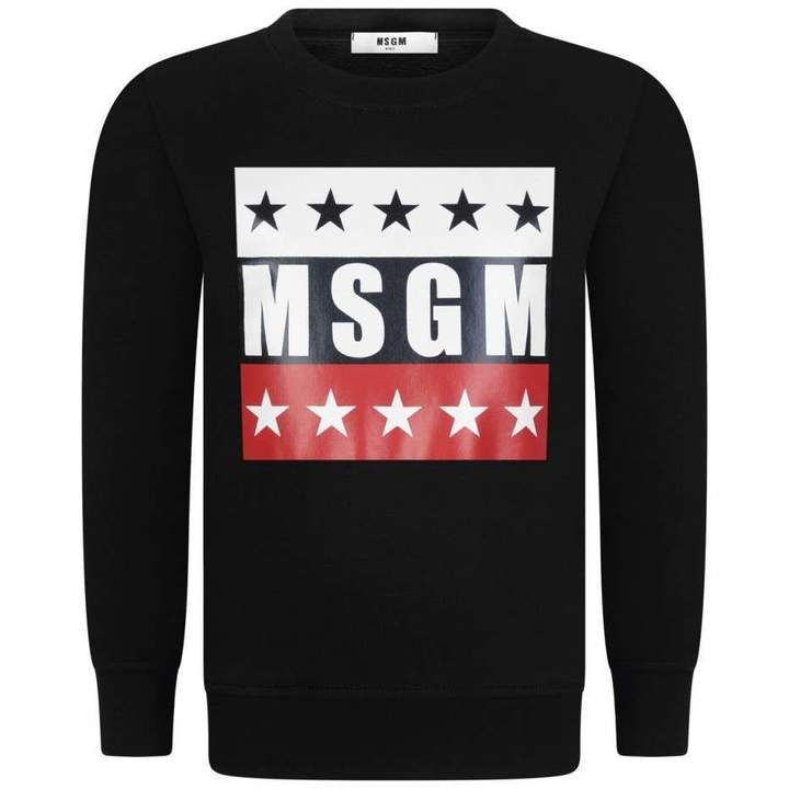 MSGMBoys Black Star Logo Sweater
