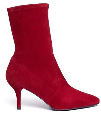 Stuart Weitzman 'Cling' stretch suede ankle boots