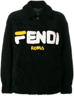 Fendi reversible shearling bomber jacket