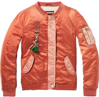 Scotch & Soda Satin Bomber Jacket