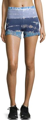 Hard Tail Fold-Waist Tie-Dye Shorts, Skeleton Lizard $59 thestylecure.com
