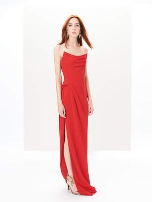 Side-Slit Cady Gown