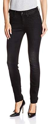 G-Star Raw Women's 3301 High Rise Skinny Fit Jean In Slander Black Superstretch $120.61 thestylecure.com