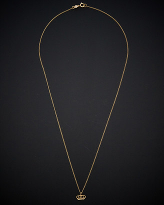 14K Italian Gold Crown Necklace