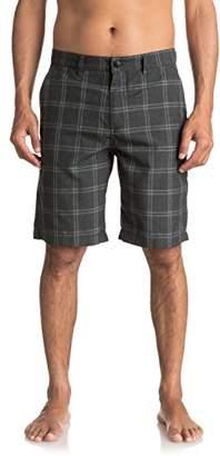 Quiksilver Young Men's Regeneration Plaid Shorts Shorts
