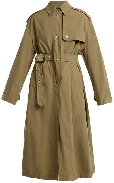 Lawney tie-waist trench coat