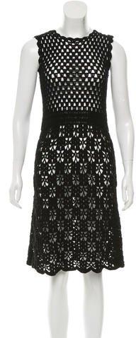 pradaPrada Crocheted A-Line Dress