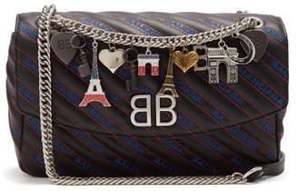 Balenciaga Bb Round M Bag - Womens - Black Blue