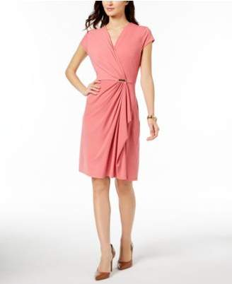 Charter Club Draped Faux-Wrap Dress, Created for Macy's