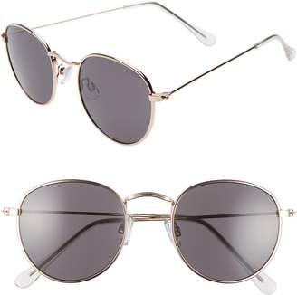 BP 50mm Round Metal Sunglasses