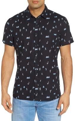 Kahala Surf Bus Trim Fit Print Sport Shirt