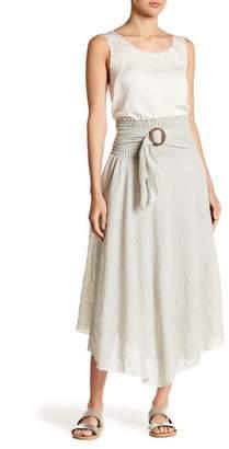 Lola Made In Italy Smocked Waist Belt Maxi Skirt