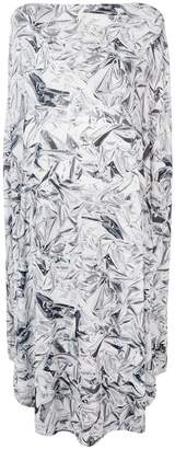 MM6 MAISON MARGIELA geometric flared midi dress