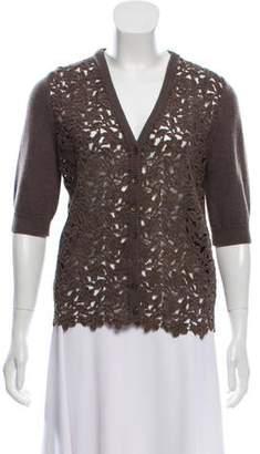 Dolce & Gabbana Floral Short Sleeve Cardigan
