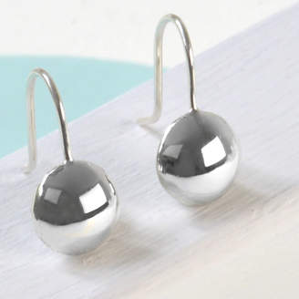 Tales From The Earth Sterling Silver Round Drop Earrings
