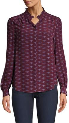 Joie Mintee Floral Ruffle Blouse