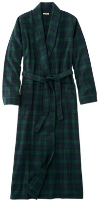 L.L. Bean L.L.Bean Women's Scotch Plaid Flannel Robe