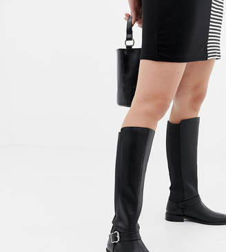 d6a8a171081 Asos Design DESIGN Wide Fit Carrick knee high riding boots