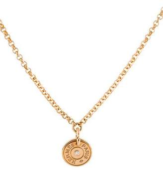 Hermes 18K Diamond Gambade Pendant Necklace