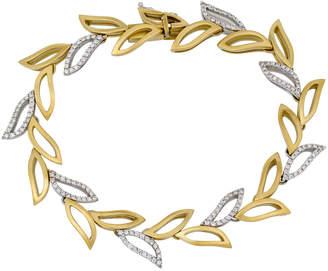 Piero Milano 18k Yellow Gold Diamond-Leaf Bracelet