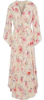 Vilshenko Madison Floral-Print Silk Crepe De Chine Midi Dress