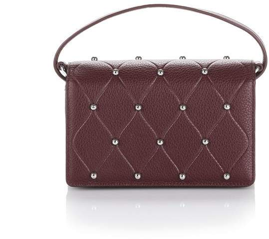 Alexander Wang ATTICA BIKER PURSE IN BEET WITH BALL STUDS SMALL LEATHER GOOD