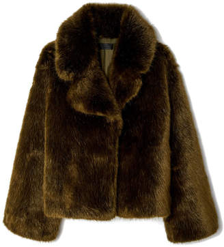 Nili Lotan Sedella Plush Oversized Coat