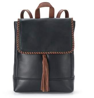 Ili ili Leather Whipstitch & Tassel Backpack