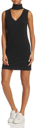 LNA Rib-Knit Cutout Turtleneck Dress $115 thestylecure.com
