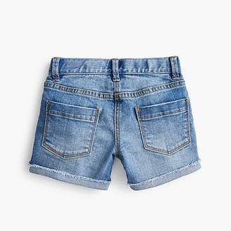 J.Crew Girls' denim short with embroidered fruits