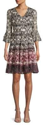 Gabby Skye Printed A-Line Dress