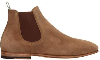 Officine Creative Light Browne Suede Revien Ankle Boots