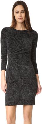 Shoshanna Ruched Metallic Dress $350 thestylecure.com