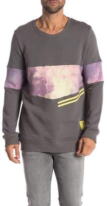 You Know I'm Bad Infinite Galaxy Printed Stripe Pullover Sweater