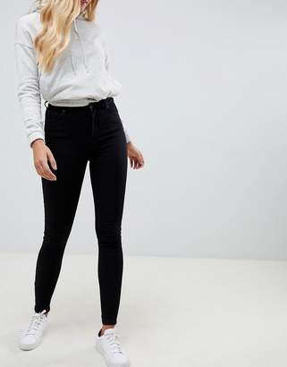 Jack Wills Ferhnam High Rise Skinny Jean in Black